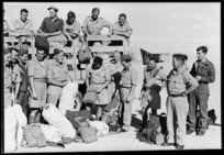 Repatriated New Zealand prisoners of war on arrival at Maadi Camp, Egypt - Photograph taken by George Robert Bull