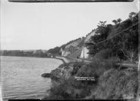 View of Shakespeare's Cliff on the Whanganui River, near Wanganui