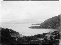 View of Mount Tarawera looking across Lake Tarawera