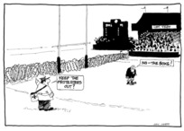 Heath, Eric Walmsley, 1923- :'Keep the protestors out?' 'No - the Boks!' 12 August 1981.