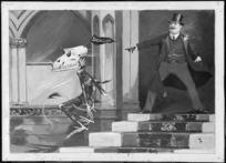 Lloyd, Trevor, 1863-1937 :Exit the skeleton of the cupboard. [191-?]