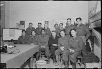 Senior officers of 28 (Maori) Battalion with Daniel Sullivan, Italy - Photograph taken by George Frederick Kaye