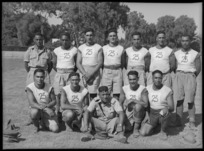 The Maori Team, winners of the tug of war at the 2nd Division Athletic Championships, Cairo, Egypt - Photograph taken by George Kaye