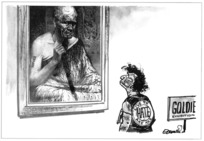 Evans, Malcolm, 1947- :Goldie exhibition. Live to hate. Ake ake. New Zealand Herald, 21 October 1997.