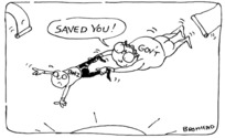 Bromhead, Peter 1933- :Saved you! Auckland Star, 15 March 1989.