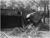 Destroyed German defences near Rimini, Italy, during World War II - Photograph taken by George F Kaye