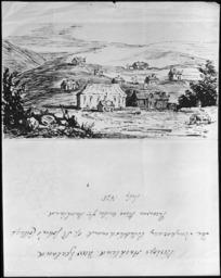 [Abraham, Caroline Harriet (Palmer)] 1809-1877 :Bishops Auckland, New Zealand the temporary establishment of St John's College, Purewa, three miles fr[om] Auckland, July 1845. [1850?]