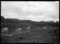 Pukepuke, sawmilling settlement under construction in Oroua County