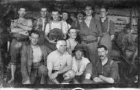 World War I soldiers on board ship
