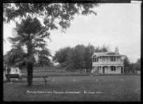 Bowling green and pavilion at Cambridge, circa 1920s