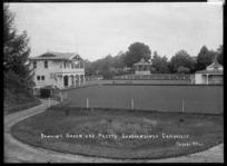 Bowling green at Cambridge, circa 1920s