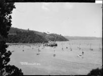 Ferries at the wharf, Cowes Bay, Waiheke Island