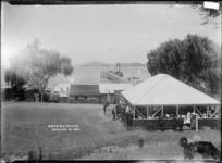 Wharf and pavilion at Cowes Bay, Waiheke Island