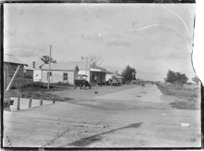 Main road in Turua, Hauraki Plains
