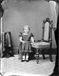 Daughter of Mr Hoggs - Photograph taken by Thompson & Daley of Whanganui