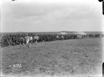 Soldiers taking part in a mile race, Authie, France