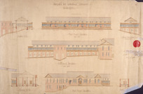 [Crichton & McKay] :Hospital for Infectious Diseases Wellington. [No] 2. Part front elevation. Part back elevation. End elevation facing north. Section AA, BB, [CC]. 11 October 1917