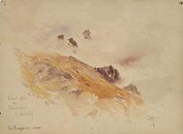 Hodgkins, William Mathew 1833-1898 :Cloud effect on Mount Cecil, L[ake] Wakatip[u]. 1885. W H