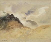 Hodgkins, William Mathew 1833-1898 :Cloud effect in the Bucklerburn Gorge, L[ake] Wakatipu. 1885.