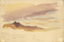 Hodgkins, William Mathew 1833-1898 :North sky evening after a wet South West day. Rain clearing away. March 3 / [18]76.