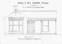 Findlay & Co. :Findlay and Co's illustrated catalogue. No. 1. Elevation of five roomed cottage. Scale 1/4 inch to a foot. Prices for material on application. [1874]