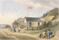 [Brees, Samuel Charles] 1810-1865 :The Scotch kirk, Wellington [1844 or 45]. Drawn by S C Brees. Engraved by Henry Melville. [London, 1847]