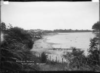 Sulphur Beach taken from vantage point above the beach, Northcote, Auckland