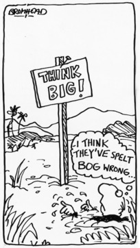 Bromhead, Peter, 1933- :Think big! 2 October 1981.