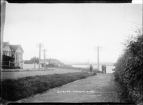 View of Queen Street, Northcote, looking towards Auckland