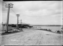View of street in Northcote, Auckland