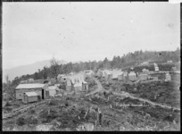 View of Cornish Town, also known as Cousin Jack Town, Inangahua County