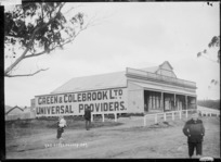 Green & Colebrook's store at Huntly, ca 1910s