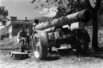 Italian 210mm howitzer, Balsorano, Italy
