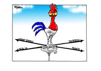 [French rooster weather vane]