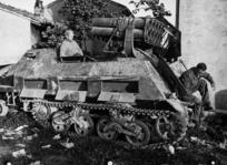 German ten barrelled Nebelwerfer, during World War II, Italy