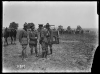 NZ. Divisional Horse Show, NZ. Officers in the ring, Courcelles