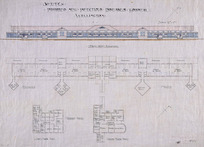 Crichton & McKay :Sketch. Proposed new Infectious Diseases Hospital, Wellington. North West elevation. Ground floor plan. First floor plan. 19. 7. 1917.