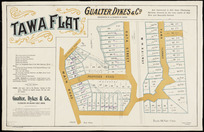 Tawa Flat [cartographic material] / Seaton & Sladden, surveyor.
