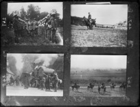 Four photographs of New Zealand soldiers in France during World War I