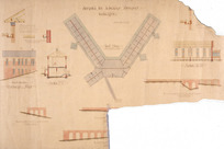 [Crichton & McKay] :Hospital for Infectious Diseases Wellington. [Elevation of] Discharge Wing. Roof plan. Elevation of foundations. Section FF. [October 1917]