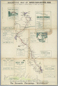 Descriptive map of Napier-Taupo-Rotorua road [cartographic material] / R. Kennedy, delr.