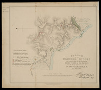 Sketch of the Koheroa ridges [cartographic material] : the scene of action between the Māori tribes of the Waikato and the troops under command of Lt. Genl. Cameron, C.B., 17th July 1863.