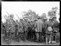 Sir Thomas MacKenzie at a troop inspection in France during World War I