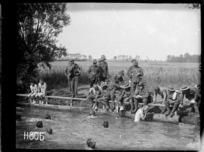 The finish of the duck hunt at the New Zealand Division water sports, World War I