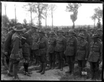 General Godley reviews New Zealand troops after the Battle of Messines