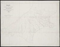 Map of Province of Canterbury, New Zealand [cartographic material] : presented with Lake's New Zealand almanack, 1874.