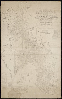 Plan of the city of Wellington & town belt [cartographic material] / compiled from official documents by Charles O'Neill, C.E. and architect.