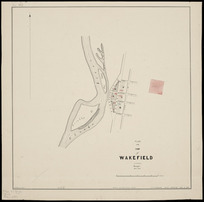 Plan of the town of Wakefield [cartographic material] / J.A. Connell, surveyor, Mar. 1863.