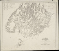 Map of the Province of Otago [cartographic material] : compiled from official surveys & explorations, additions to 1871 / W. Spreat Lith.