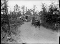 A New Zealand battery advances into the captured village of Achiet Le Petit